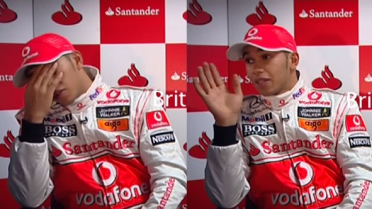 Lewis Hamilton gets rude with PR people as he makes a mess of recording a promo video