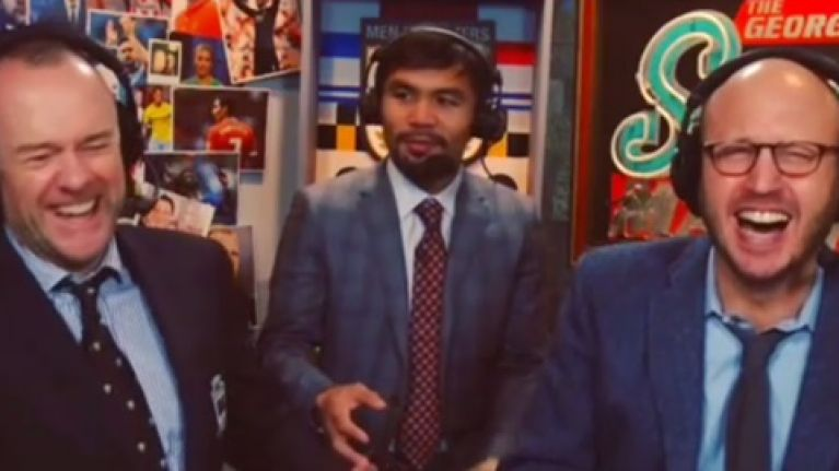 Video: Manny Pacquiao can do a remarkably good Scottish accent