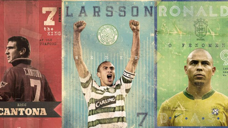23 'Gods of football' immortalised in these astoundingly awesome posters