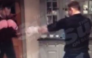 Pics: Phil Bardsley 'knocks out' Wayne Rooney in kitchen brawl