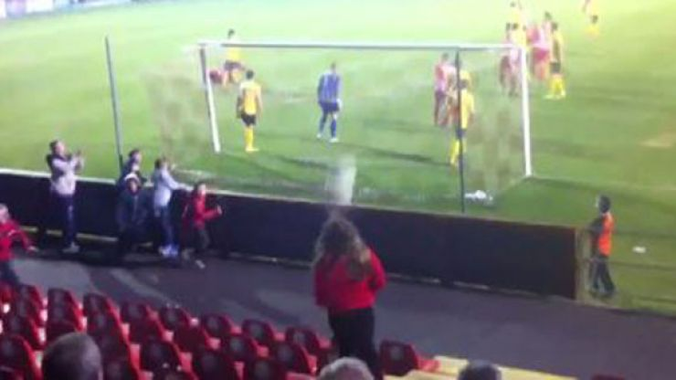 Video: Woman nearly gets knocked out by screamer at Sligo Rovers match