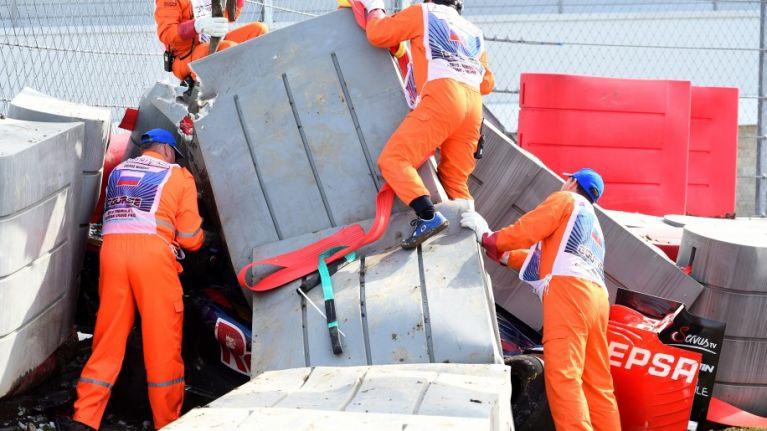 WATCH: Terrifying trackside footage of F1 crash that saw Carlos Sainz hospitalised