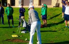 Rory McIlroy gives Ireland's rugby heroes a golfing masterclass