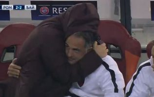 VIDEO: Roma bench's reaction to last gasp penalty winner is absolutely priceless