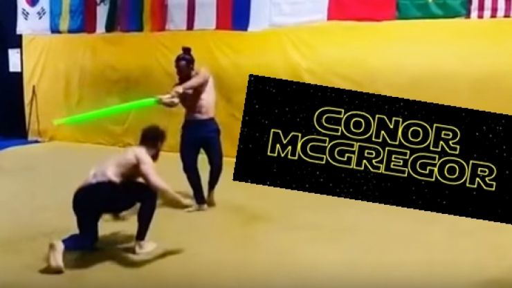 Our productivity levels have dipped since we started watching this Conor McGregor Star Wars mash-up