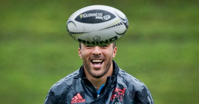 VIDEO: Simon Zebo's attempt to take down drone at Munster training fails miserably