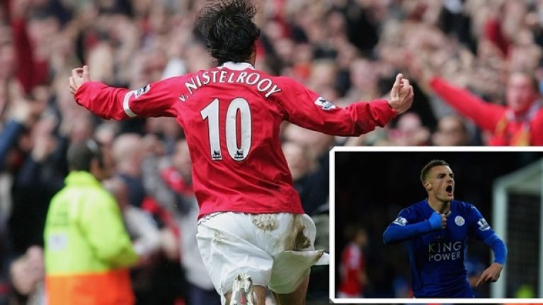 PIC: Ruud van Nistelrooy responds to Jamie Vardy's record-breaking goal