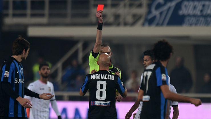 Image result for Giulio Migliaccio red card