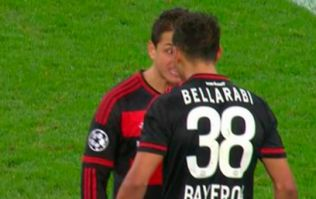 WATCH: Chicharito almost digged the head off of his teammate on Wednesday night