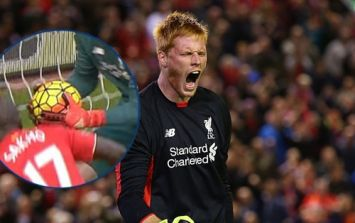 Was the ball kicked from Adam Bogdan's hands for Watford's opener against Liverpool?