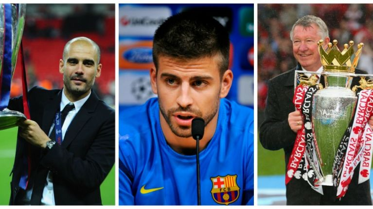 Gerard Pique explains the biggest difference between Alex Ferguson and Pep Guardiola
