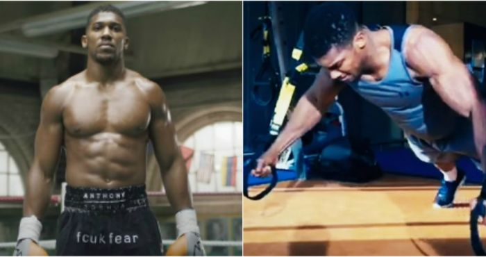 0992dab39f5 WATCH  Anthony Joshua in beast mode training for his world title fight