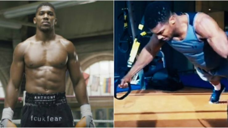 WATCH: Anthony Joshua in beast mode training for his world title fight