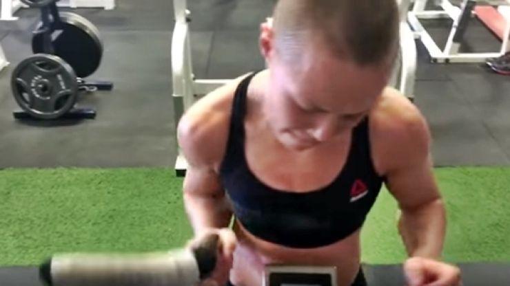 WATCH: Rose Namajunas' scary dedication shines through this non-stop gym routine