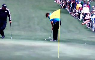 VIDEO: Nick Faldo sinks one of the greatest putts you'll ever see at US Masters par three tournament