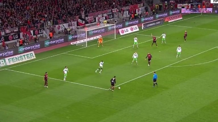 Javier Hernandez renders Wolfsburg 'keeper redundant with bottom corner cracker