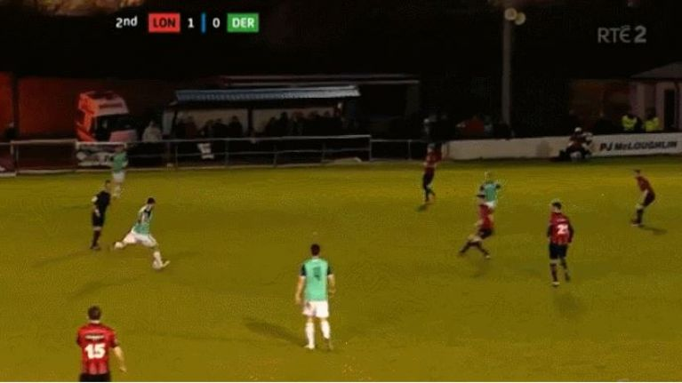 WATCH: James McClean's little brother's first goal for Derry City was an absolute beauty