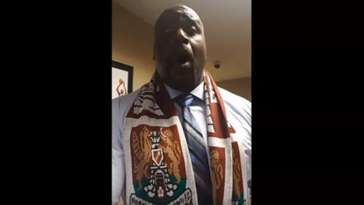 WATCH: Shaquille O'Neal greatly enjoyed Northampton's promotion from League 2