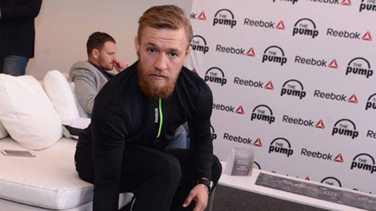 "Conor McGregor unveils new custom ""Champion Irish"" Reebok Furylite shoes"