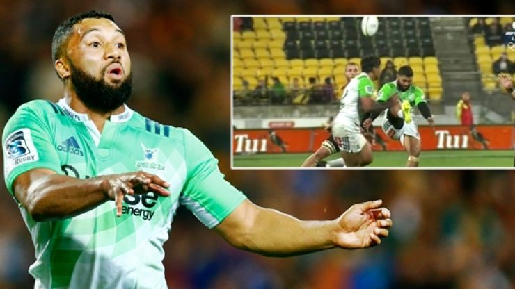 WATCH: Lima Sopoaga causes glorious chaos with rugby's first overhead kick