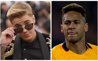 Watch: Justin Bieber holds his own in kick about with Neymar