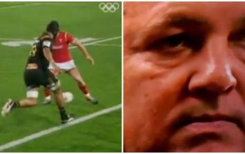 WATCH: New Zealand TV troll Warren Gatland as Welsh player nutmegged for try
