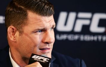 Middleweight champion Michael Bisping apologises for use of gay slur in post-fight clash
