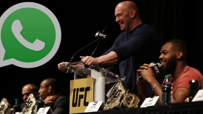 UFC 200: A sneak peek at the star-studded WhatsApp group