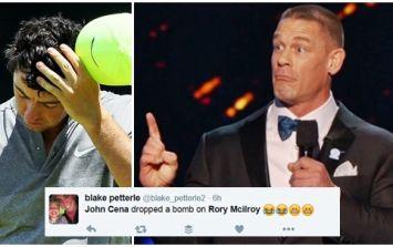 WATCH: WWE star John Cena makes Irish stereotype joke about Shane Lowry and Rory McIlroy
