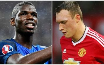 Paul Pogba has cleary seen Phil Jones' new hairstyle