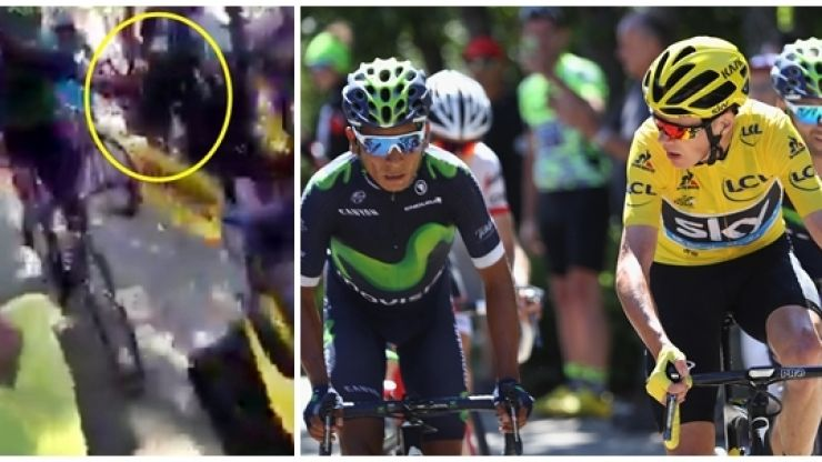 WATCH: Tour de France cyclist takes handy tow amid Chris Froome carnage