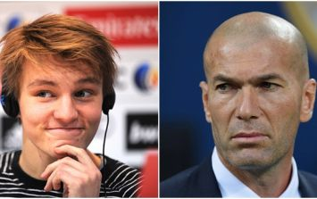 Zinedine Zidane has clashed with Real Madrid's president over Martin Odegaard