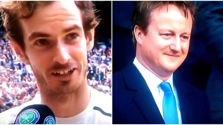 WATCH: Andy Murray gets in cheeky dig at David Cameron after Wimbledon win