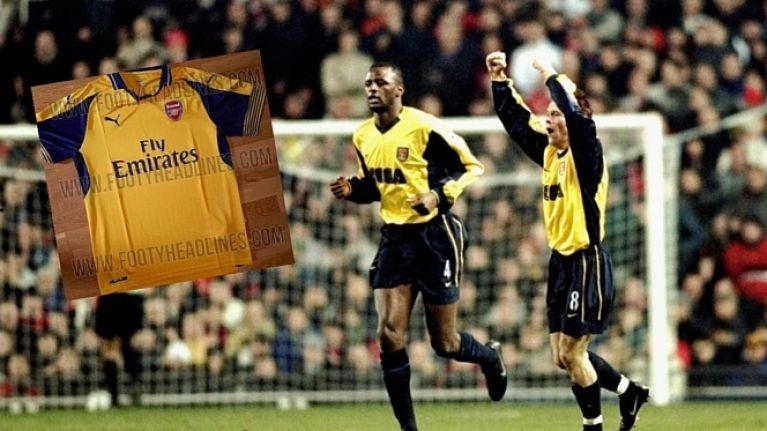 official photos bbe6f 8013b Arsenal's leaked away kit is a glorious throwback to a ...