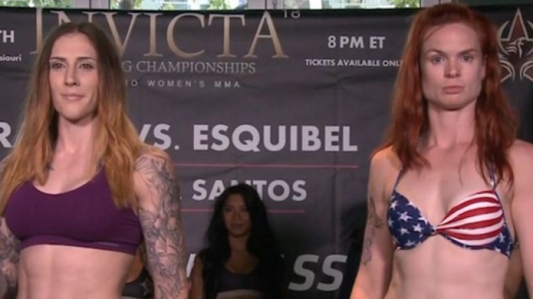 PIC: Peggy Morgan's cheek does not look normal after being stopped in the first round at Invicta 18