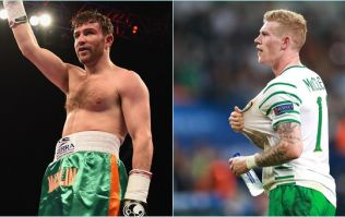 James McClean gets fighting fit for new season as he goes through pad work with Matthew Macklin