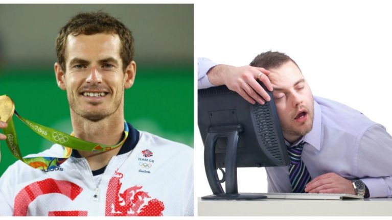 Andy Murray pulls off Olympic gold... but everyone just cried about missed sleep
