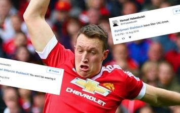 Fans tear into Phil Jones after he asks them to help design a new Manchester United kit
