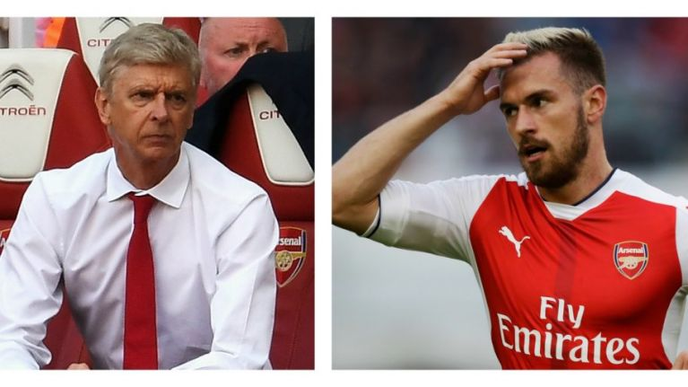pretty nice 804b4 31e0c Aaron Ramsey looked absolutely done with Arsene Wenger ...