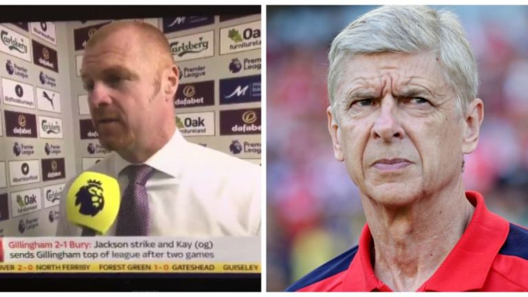 Sean Dyche morphed into Arsene Wenger on Sky Sports and Jeff Stelling was loving it