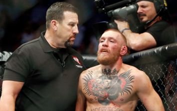 UFC 202 referee John McCarthy is clearly in awe of Conor McGregor