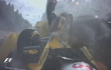 Kevin Magnussen walked away from this huge crash that caused a red flag at the Belgium Grand Prix