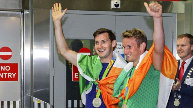 WATCH: Cork airport was absolutely hopping for the O'Donovan brothers' homecoming