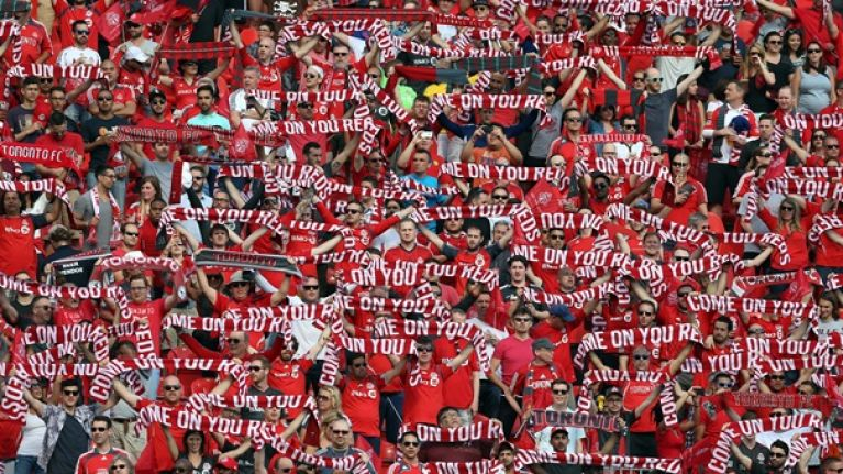 Toronto FC apologise after banner depicting sex act is waved in crowd