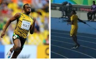 Usain Bolt had a go at javelin at Rio and he did remarkably well for a sprinter
