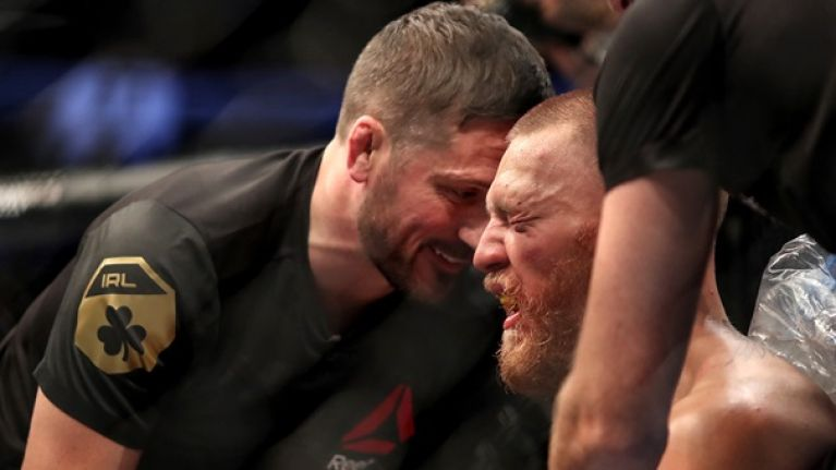 John Kavanagh reveals what Nate Diaz was shouting at Conor McGregor's corner in fourth round