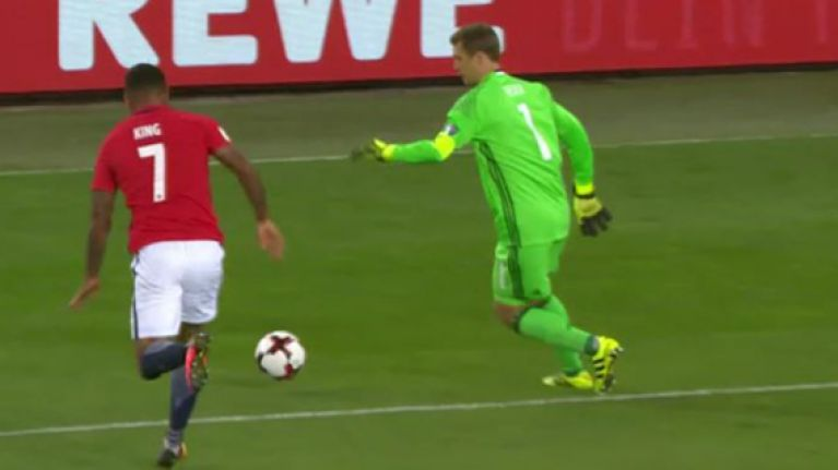 WATCH: Manuel Neuer's reign as new German captain began with a perfectly executed Cruyff turn