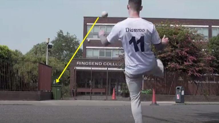 Diarmuid Connolly's wheelie bin trick shot and kick across the Liffey are damn impressive