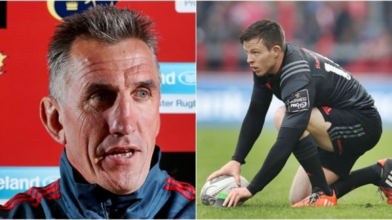Rob Penney could not resist the glaringly obvious after Munster announced Johnny Holland's retirement