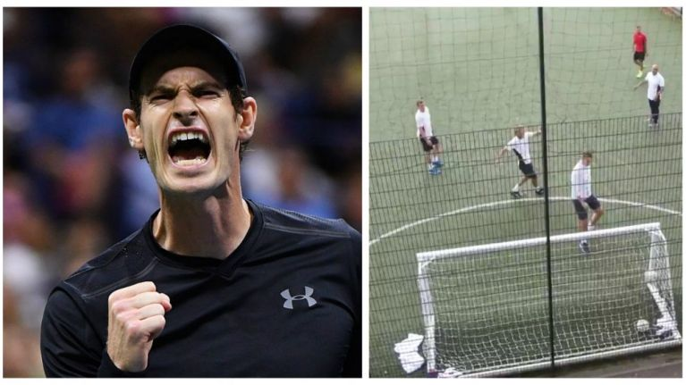 Andy Murray scores Beckham-esque goal in 5-a-side kickabout